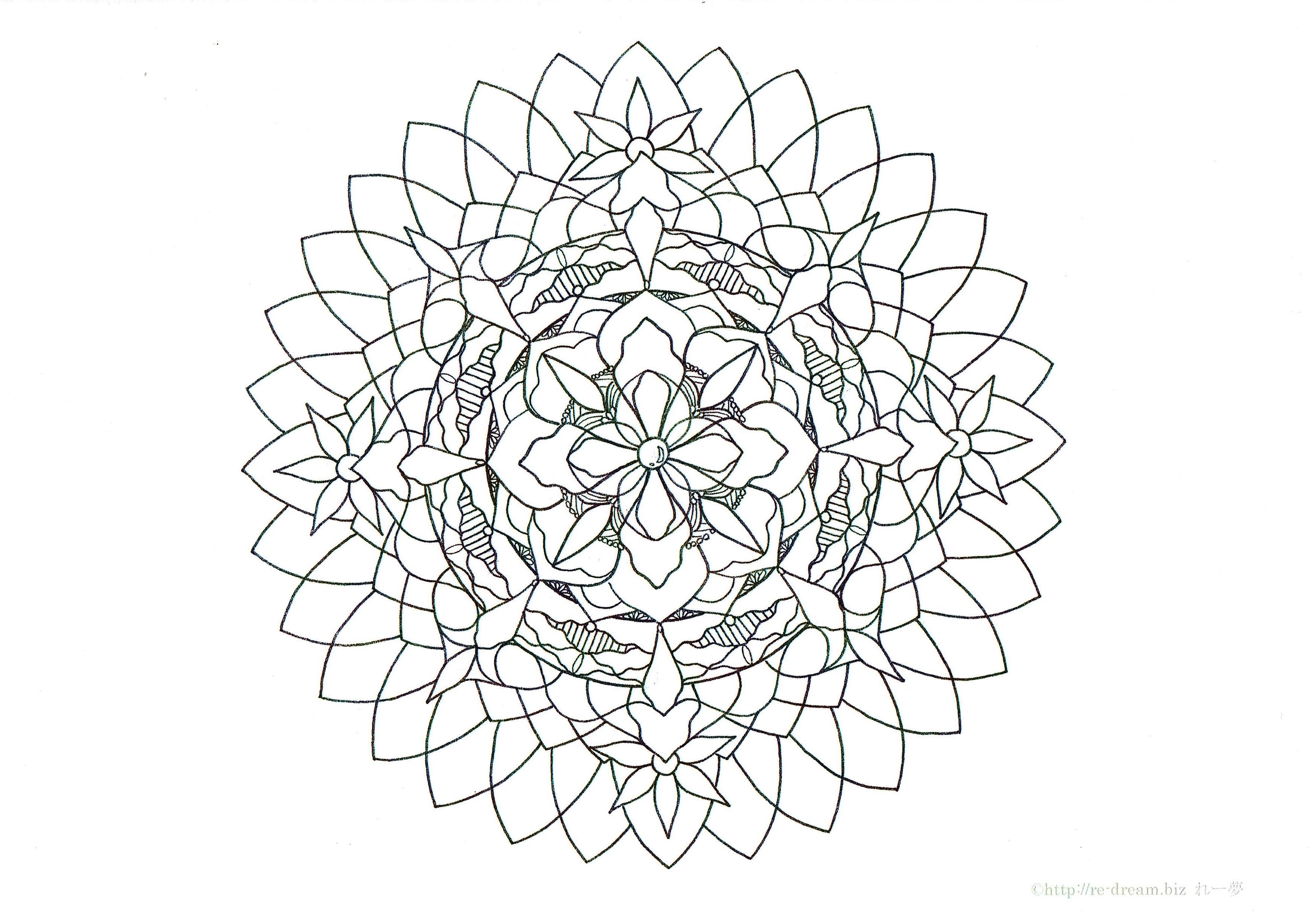 ぬりえ心の花園販売されました Mandala Artist Reiko N