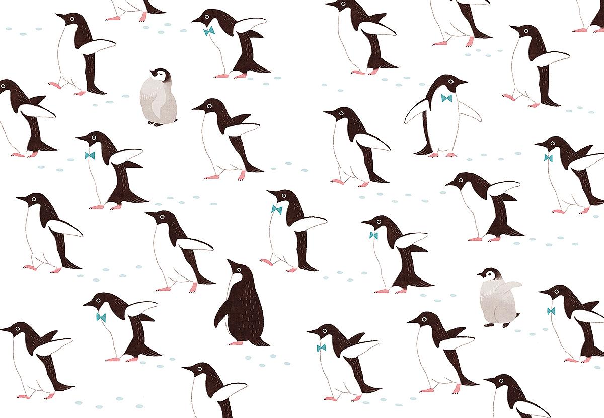 一面のペンギン